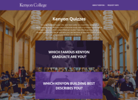 quiz.kenyon.edu