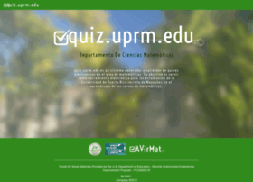 quiz.uprm.edu