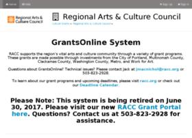 racc.culturegrants.org