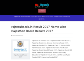rajasthanboard.nicresults.in