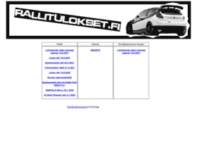 rallitulokset.fi
