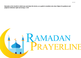 ramadanprayerline.com