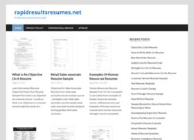 rapidresultsresumes.net