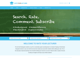 rateyourlecturer.co.uk