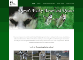 ravenshuskyhavenandrescue.org