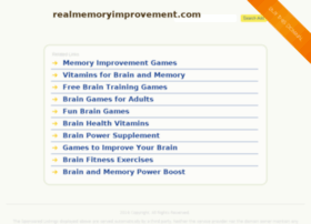 realmemoryimprovement.com