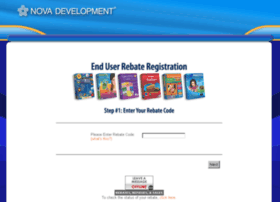 rebates.novadevelopment.com