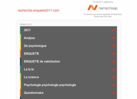 recherche-enquete2017.com