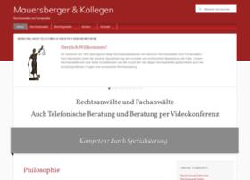 rechtsanwalt-mauersberger.de