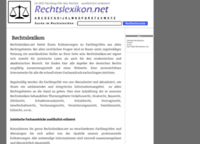 rechtslexikon.net