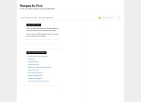 recipesforrice.com