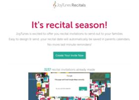 recitals.joytunes.com