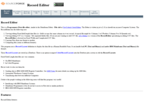 record-editor.sourceforge.net