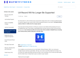record.underarmour.com