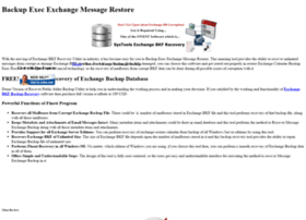 recovermessageexchangebackup.exchangebkfrecovery.org
