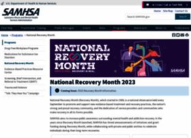 recoverymonth.gov