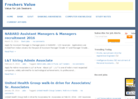 recruiters.freshersvalue.com