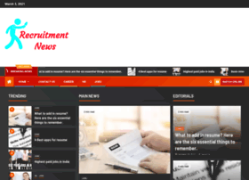 recruitmentnews.co.in