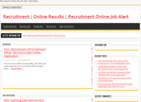 recruitmentonlineresults.in