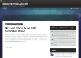 recruitmentresult.blog.com