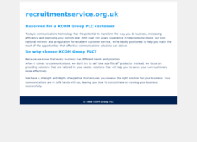 recruitmentservice.org.uk