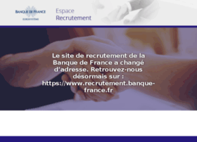 recrutement-banquedefrance.fr