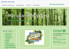 recycle.meridian.mi.us