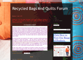 recycledbagsandquiltsforum.blogspot.in