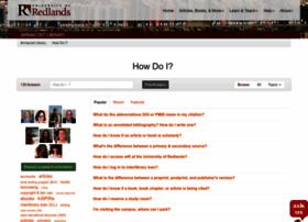 redlands.libanswers.com