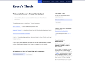 reesesthesis.com