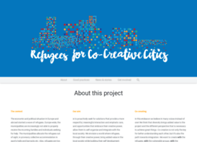 refugeesforcocreativecities.eu