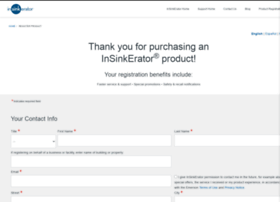 register.insinkerator.com