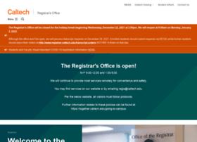 registrar.caltech.edu