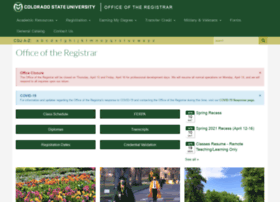 registrar.colostate.edu