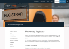 registrar.indianatech.edu