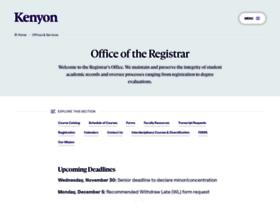 registrar.kenyon.edu