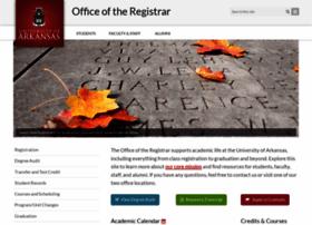 registrar.uark.edu