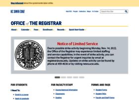 registrar.ucsc.edu
