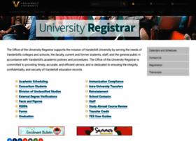 registrar.vanderbilt.edu