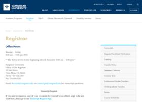 registrar.vanguard.edu