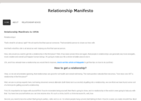 relationshipmanifesto.webs.com