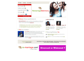 remarriagematrimony.in