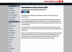 remembrancedaycanada.com