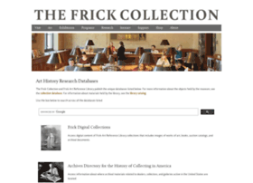 research.frick.org