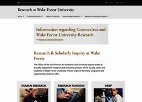 research.wfu.edu