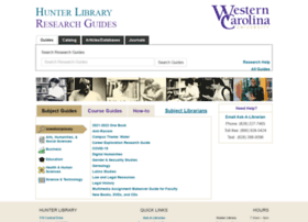 researchguides.wcu.edu