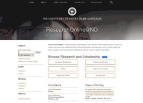 researchonline.nd.edu.au