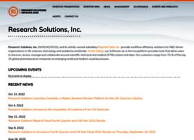 researchsolutions.investorroom.com