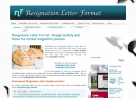 resignationletterformat.in