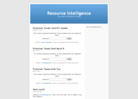 resourceintelligence.wordpress.com